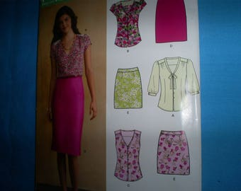 New Look Simplicity 0137 Tunics andSkirts Size 8-18.