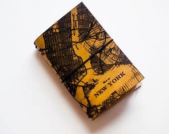 "Custom Traveler's Notebook Cover // Map of New York City // Custom Map GPS Location // Passport Size fits 3x4"" inserts"