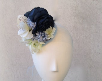 Girls Fascinator--Headpiece--Easter--Weddings--Special Occasions--Blue Tones