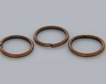 Bag of 150 10x1mm copper open jump rings
