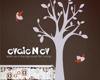 Children Wall Decal Wall Sticker - Tree with Birds Birdland - TRBL020L