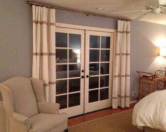 Custom Window Pane Drapery Panels
