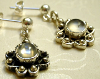 Moonstone and Sterling Silver Earrings