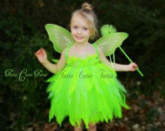 Tinkerbell Fairy Tutu Dress Costume