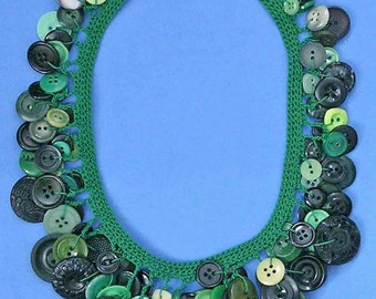 Crochetted Button Necklace