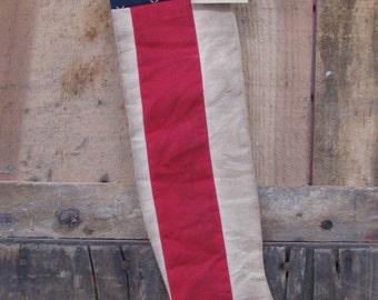 Prim Flag Stocking - READY TO SHIP