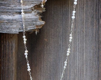 Freshwater Pearls and Sterling Silver Necklace