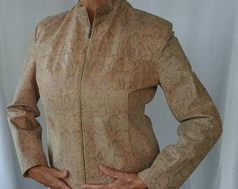Lipel Day faux snakeskin jacket