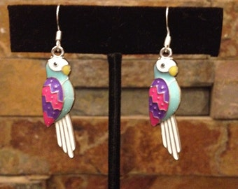 Parrot Bird Tropical Earrings Great for Kids and Adults