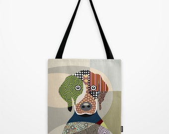 Beagle Gift, Dog Tote Bag, Animal Tote Bag, Dog Lover Gift Tote Bag, Animal Lover Gift, Colourful