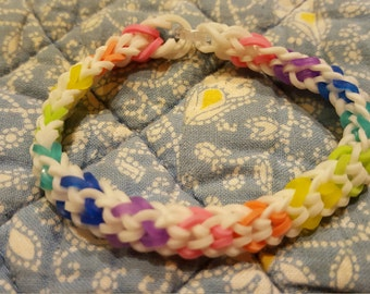 Rainbow Loom Inverted Fishtail Stretchy Bracelet