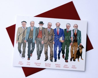 Famous Psychologist 5 by7 card
