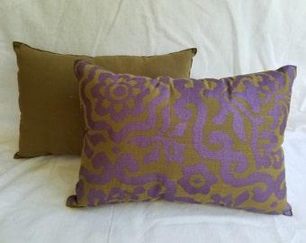 Purple Print Pillow