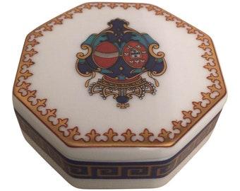 Vintage  Porcelain  Trinket  Jewelry  Box