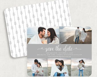 Gray Save the Dates, Photo Save the Dates, Printed Save the Dates, Save the Date Magnets, Printable Save the Dates, DIY Save the Dates, PDF
