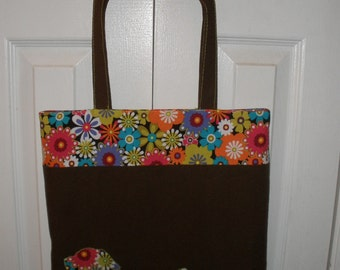 Tote Bag -PDF Pattern includes Applique instructions Great for beginners