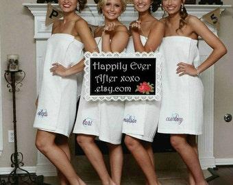 Personalized Spa Wraps Monogram Bridesmaid Gifts