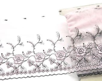 Pale Pink Lace Trim, Light Pink Flowered Lace, Blush Pink, black and Pink, Pink Lingerie, Lace Crafts, Dolls, Lace Dress