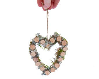 Moss & Lichen Woodland -  Valentine's Day Special Edition -  Heart - Gift for Girlfriend, Trending Now, Sustainable Gift, Wabi-Sabi - Hygge