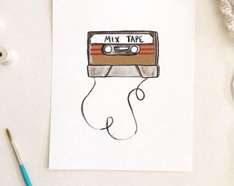 Original Painting - Mix Tape