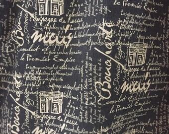 SALE!!!!,marquis denim Script Fabric, Fabric By The Yard