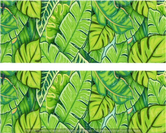 Green Jungle Leaves Birthday - Edible Cake Side Toppers- Decorate The Sides of Your Cake! - D24132