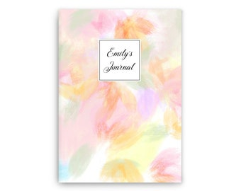 Notebook • Personalized notebook • Pastel floral II • Custom Stationery Journal - Hand bound -Prayer journal - gift for her