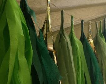 St Patrick's Day Tassel Garland