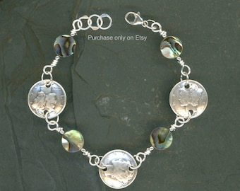 80th Birthday Gift Ideas for Women 1938 Dime Coin Paua Shell Bracelet Gift Ideas Jewelry 80th Gift for Women Gift Grandmother