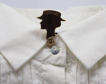 Chanel pin 'Silhouette de COCO'