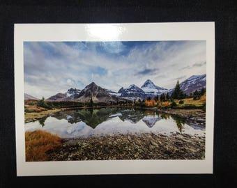 "Mount Assiniboine Blank Card 4.25""x5.5"" Edmonton, Alberta, Canada."
