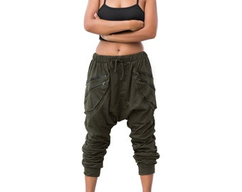 Drop Crotch Pants  women men Harem Pants  Goa Pants Gypsy Pants Hip Hop Pants
