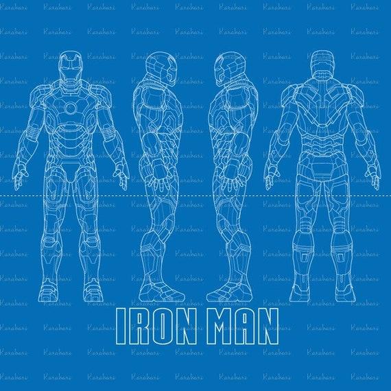 High quality iron man blueprint svg iron man svgiron man malvernweather Images