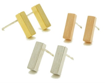 Silver Balance Bar Earring,  bar earrings, silver bar earrings, minimalist earrings, bar stud earrings
