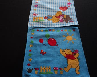 Two Vintage Disney children's cotton printed handkerchiefs (05984-985)