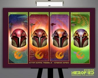 "Star Wars Rebels Inspired ""Sabine Helmet Composite"" Art Print"