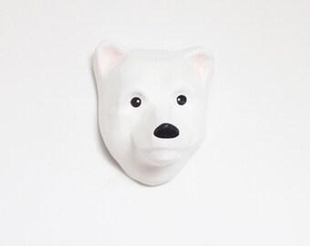 Paper Mache Polar Bear Dream Catcher