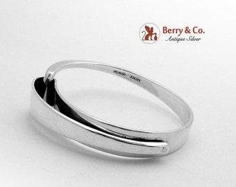 SaLe! sALe! Mid Century Design Bangle Bracelet Sterling Silver Hayner 1950