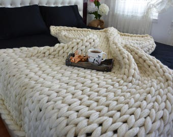 Chunky knit blanket, Lap BLanket, Chunky knit throw, Chunky knit Mohair Blanket, Extraordinary gift, Chunky blanket,Cover Bedspread