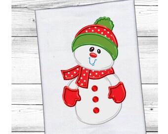 Applique Machine Embroidery DESIGN NO. 129.....Cute Little Snowman