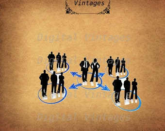 Business Networking Growth Vintage Antique Digital Image Download Printable Graphic Clip Art Prints HQ 300dpi svg jpg png