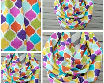 Scarves, Infinity Scarf, Fashion Scarves, Quartrefoil Scarf, Cowl Scarf, Loop Scarf, Circle Scarf, Fashion Scarf, Ladies Scarf/Clothing