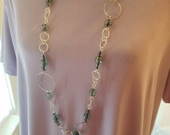 Long length chain length necklace