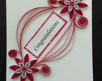 Congratulations Quilled Card