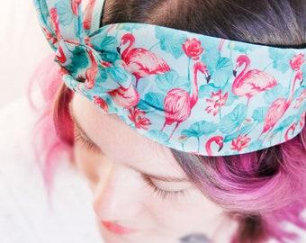 Handmade hairband * Flamingo *.