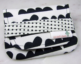 Birth Control Case, Birth Control Holder, Black and White, Modern, Pill Sleeve, Pill Wallet, Birth Control Pouch, Pill Pouch, Discreet Case