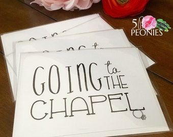 Going to the Chapel NoteCards - Wedding - Bridal - Ready to Ship