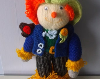 Knitted Sammy the Scarecrow