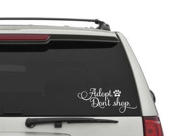 Adopt Don't Shop Car Decal