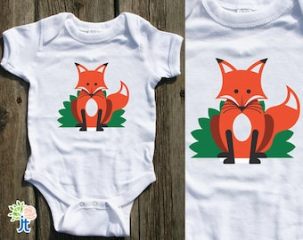 Cute Fox Infant Baby Clothes Baby Cotton Bodysuit